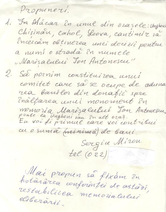Propuneri de la dl Miron la Conferinta Antonescu 001